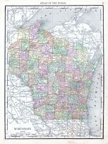 Wisconsin, World Atlas 1913
